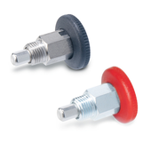 Mini indexing plungers Steel / Stainless Steel, opening indexing mechanism, with and without rest position GN 822.1
