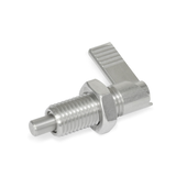 Stainless Steel-Cam action indexing plungers with 180° limit stop, with locking function GN 721.6