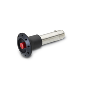 Stainless Steel-Locking pins Plastic knob, with axial lock (Pawl) GN 114.3